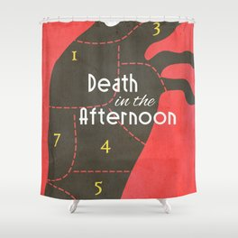 Death in the Afternoon, Erenst Hemingway, book cover, classic novel, bullfighting stories, Spain Shower Curtain