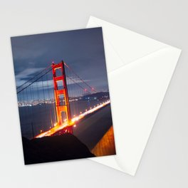 Golden Gate Bridge at Night | San Francisco, CA Stationery Cards