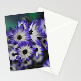 Blue & White Daisy Flowers #1 #floral #decor #art #society6 Stationery Cards