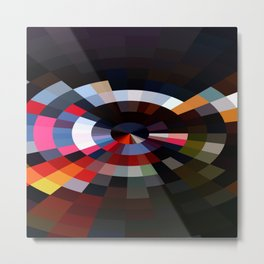 Colorful Geometry Metal Print