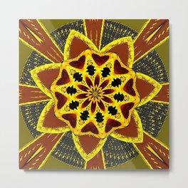 Abstract Sunflower 2 Metal Print