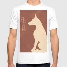 Doberman Dog MEDIUM Mens Fitted Tee White