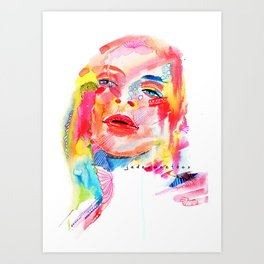 Fever Talk Art Print