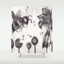 Bee Happy 3 Shower Curtain