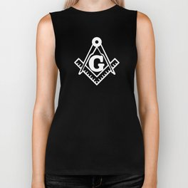 Masonic Square Compass Biker Tank