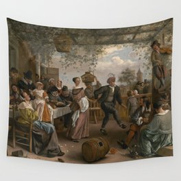 Jan Steen The Dancing Couple 1663 Painting Wall Tapestry