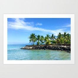 Bora Bora Palm Trees Art Print