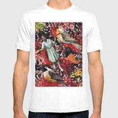 Happy Bird day | Collage White MEDIUM Mens Fitted Tee