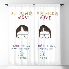 Dwight office all you need is love Blackout Curtain