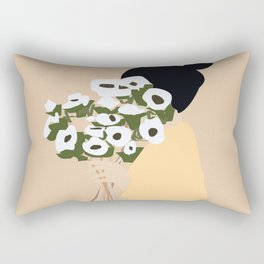 White flowers Rectangular Pillow