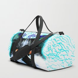 cat my home my rules vector art blue Duffle Bag
