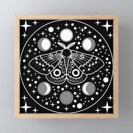 Moth in the Moon Light Framed Mini Art Print