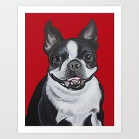 coco Art Prints featuring Coco by Pawblo Picasso