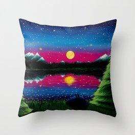Summer's Final Moon Throw Pillow