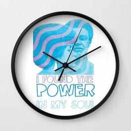 I Found The Power In My Soul Blue Wall Clock