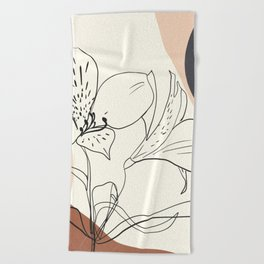 Abstract Art Flowers 2 Beach Towel