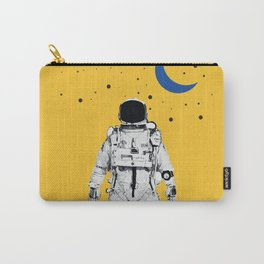 Astronaut Portrait on a Yellow Background Carry-All Pouch