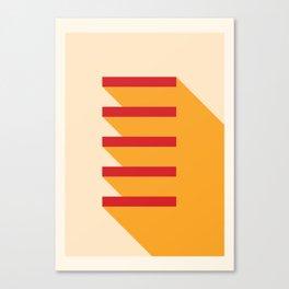 5 Shelves Canvas Print