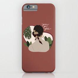 Classy Hair Bun iPhone Case