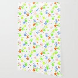 Hand Print Pattern Wallpaper