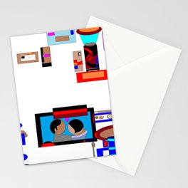 A Dinner and a Movie with Technology Stationery Cards