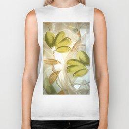 textile / flower / green  Biker Tank