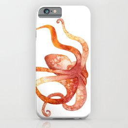 Watercolour Octopus - Red and Orange iPhone Case