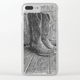 Boot Scootin' Clear iPhone Case