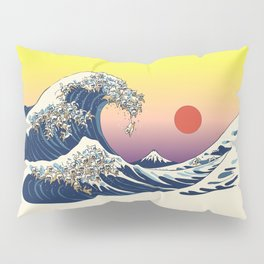 The Great Wave Of  Cat Pillow Sham
