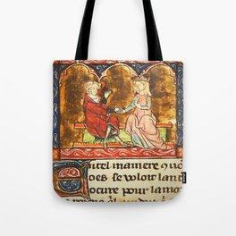 Arthur Legend 2 Lancelot and Guenevere Tote Bag