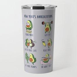 New Year's Resolutions with Avocado Travel Mug