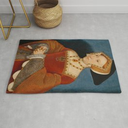 """Hans Holbein the Younger """"Jane Seymour, Queen of England"""" Rug"""