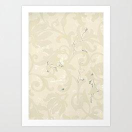 wallpaper obstacles Art Print