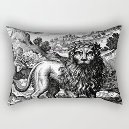 Theosophie & Alchemie - The Green Lion Rectangular Pillow