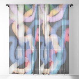 Bokeh #25 - Photography Art Sheer Curtain