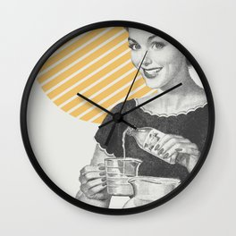 When Life Hands You Lemon Juice Concentrate -- Make Lemonade. Wall Clock