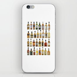 Whiskey bottles iPhone Skin