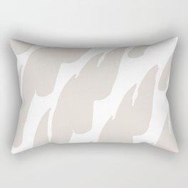 Neutral Abstract Brush Marks Rectangular Pillow