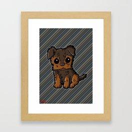 Troy - Silky Terrier Framed Art Print