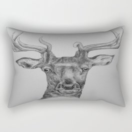 Stag in pencil Rectangular Pillow