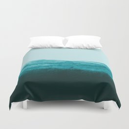 Aqua Watercolor Tide Duvet Cover