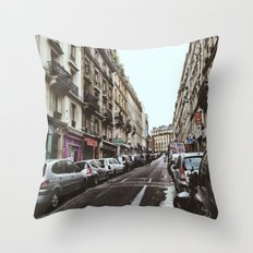 Paris Streets Throw Pillow