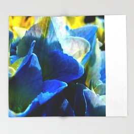 Hydrangea Blue Throw Blanket