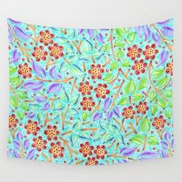 Caribbean Filigree Floral Wall Tapestry