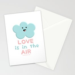 Love Is In The Air Blue Cloud Stationery Cards