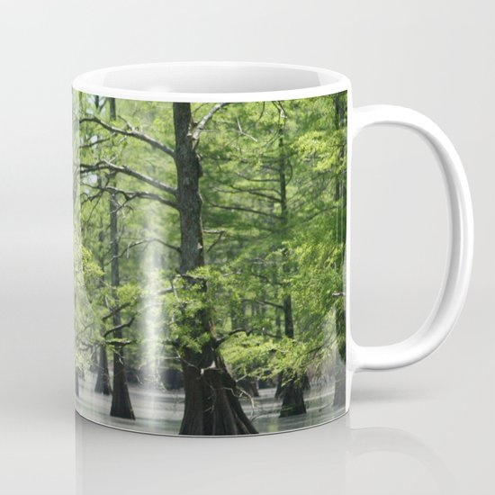 Cypress Trees in the Louisiana Swamp by bravuramedia
