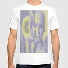 SENSUAL BALDNESS OF BEING NEON Mens Fitted Tee MEDIUM White