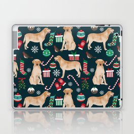 Yellow Labrador retriever christmas festive holiday gifts for dog person dog lover labrador retrieve Laptop & iPad Skin