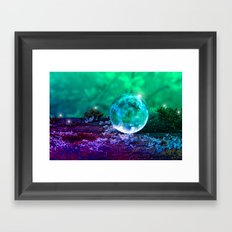 COLLECTION »CRYSTAL BALL« | Tiny Universe Framed Art Print