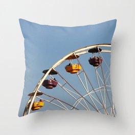 Ferris Wheel, Santa Monica Pier Throw Pillow